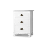 Vintage Bedside Table Chest Storage Cabinet Nightstand White