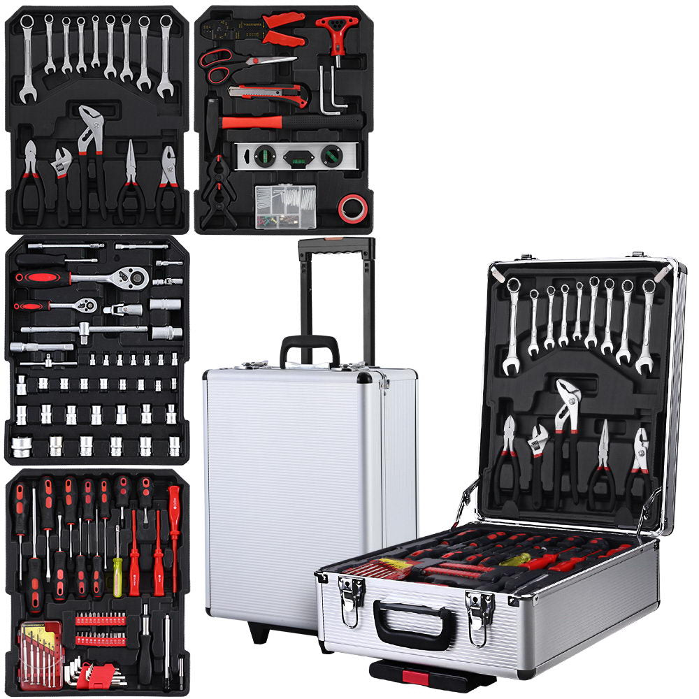 786pcs Tool Kit Trolley Case Mechanics Box Toolbox Portable
