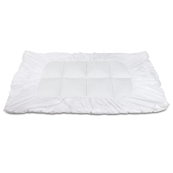 Single Mattress Topper Bamboo Fibre Pillowtop Protector