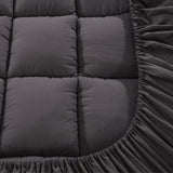 Queen Mattress Topper Pillowtop Charcoal Microfibre