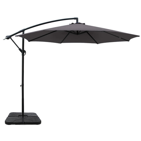 3M Umbrella with 50x50cm Base Outdoor Umbrellas Cantilever Sun Stand UV Garden