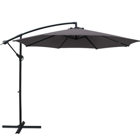 3M Outdoor Furniture Garden Umbrella Charcoal