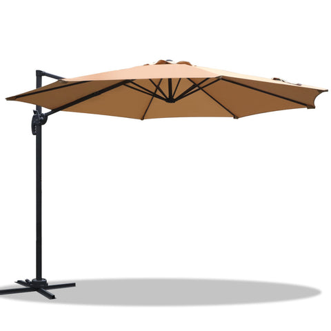 Instahut Roma Outdoor Umbrella - Beige