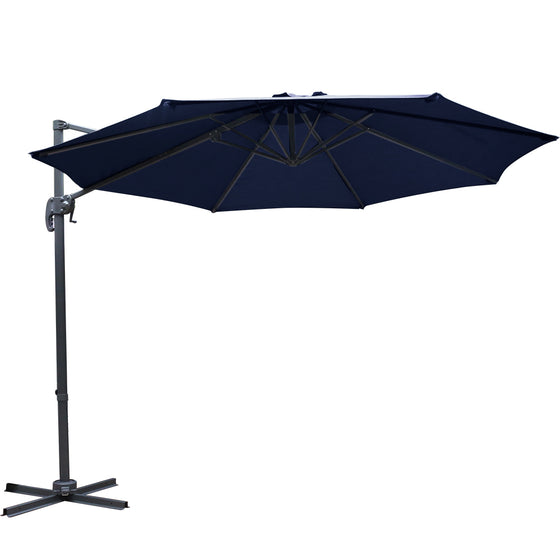 3M Roma Outdoor Furniture Garden Umbrella 360 Degree Navy
