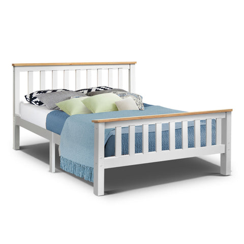 Double Full Size Wooden Bed Frame PONY Timber Mattress Base Bedroom Kids