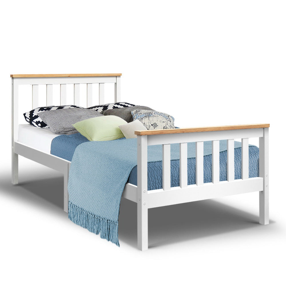 Single Wooden Bed Frame Bedroom Furniture Kids