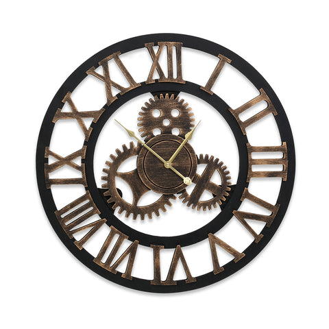 Wall Clock Modern Large 3D Vintage Luxury Clock Enduring