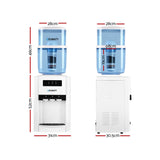 22L Bench Top Water Cooler Dispenser Filter Purifier Hot Cold Room Three Taps