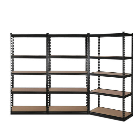 3x0.7M Warehouse Shelving Racking Storage Garage Steel Metal Shelves Rack