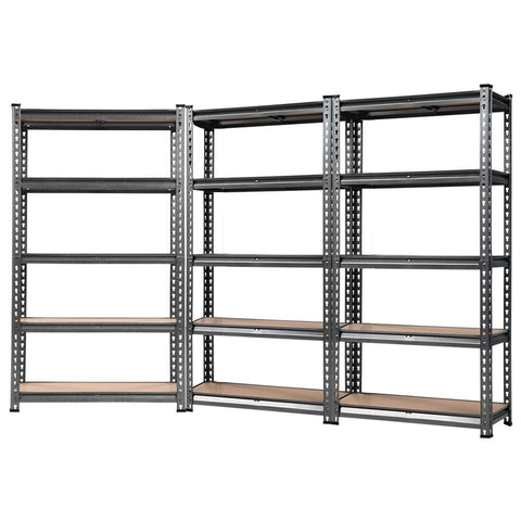 3x0.7M Warehouse Racking Shelving Storage Rack Steel Garage Shelf Shelves