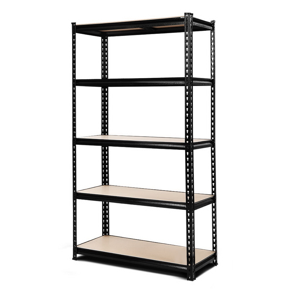 0.9M 5-Shelves Steel Warehouse Shelving Racking Garage Storage Rack Black