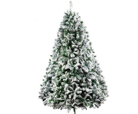 Christmas Tree 2.4M 8FT Xmas Decorations Snow Home Decor