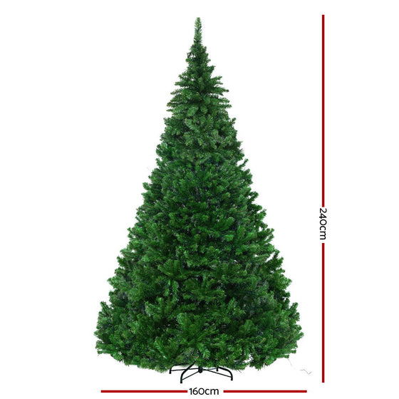 2.4M 8FT Christmas Tree Xmas 3190 LED Lights Warm White 1436 Tips