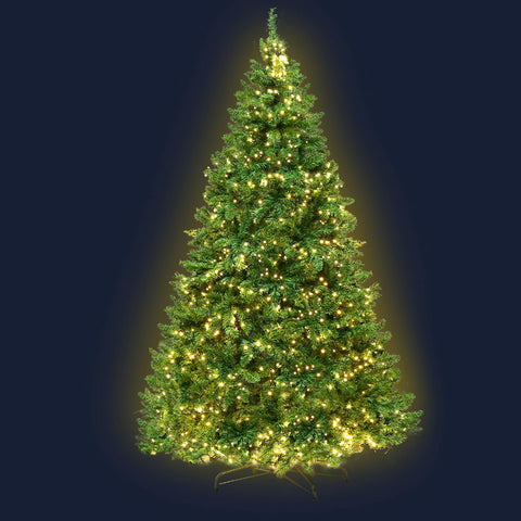 2.1M 7FT Christmas Tree 1134 LED Lights 1134 Tips Warm White Green