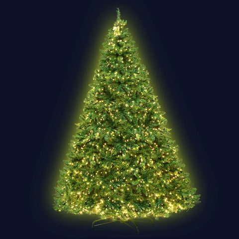2.4M 8FT Christmas Tree 1488 LED Lights 1488 Tips Warm White Green