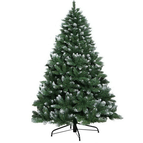2.4M 8FT Christmas Tree Xmas Home Decoration 1400 Tips Snowy Green