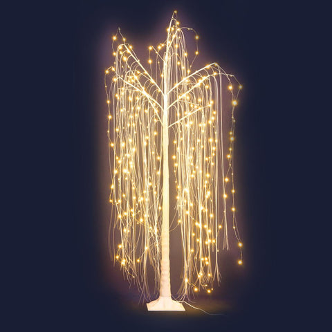 LED Christmas Tree Willow Fibre Optic Warm White Lights