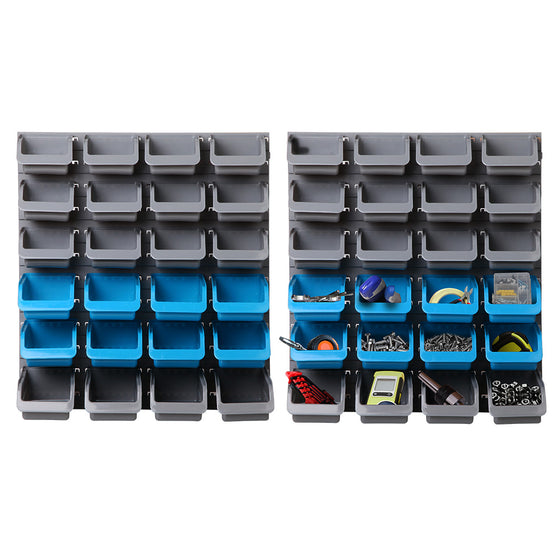 48 Bin Wall Mounted Rack Storage Organiser