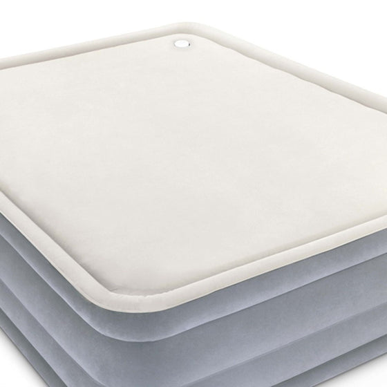 Queen Size Inflatable Air Mattress - Grey & Beige