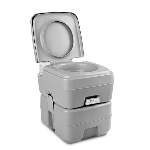 20L Portable Outdoor Camping Toilet - Grey