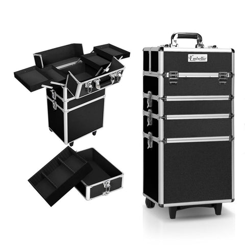 7 in 1 Beauty Make Up Storage Trolley - Black