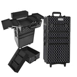 7 in 1 Portable Beauty Make up Cosmetic Trolley Case Diamond Black