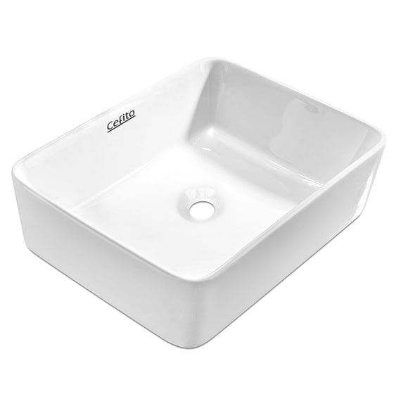 Ceramic Sink Rectangle White