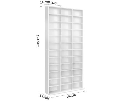 CD Storage Shelf Rack Unit - White