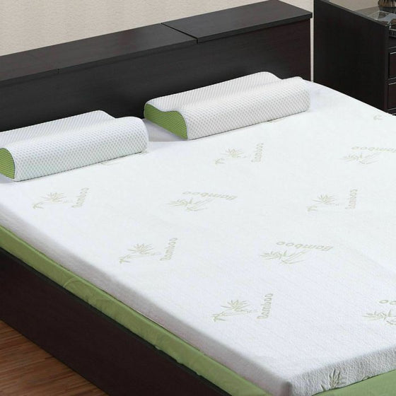 5cm Thickness Cool Gel Memory Foam Mattress Topper Bamboo Fabric Double