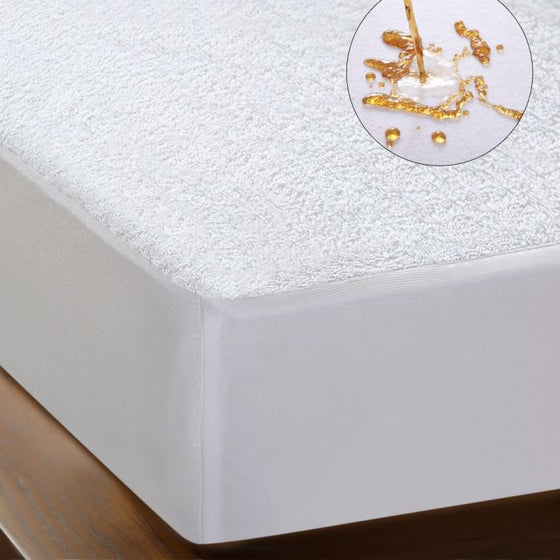 Terry Cotton Fully Fitted Waterproof Mattress Protector in King Size