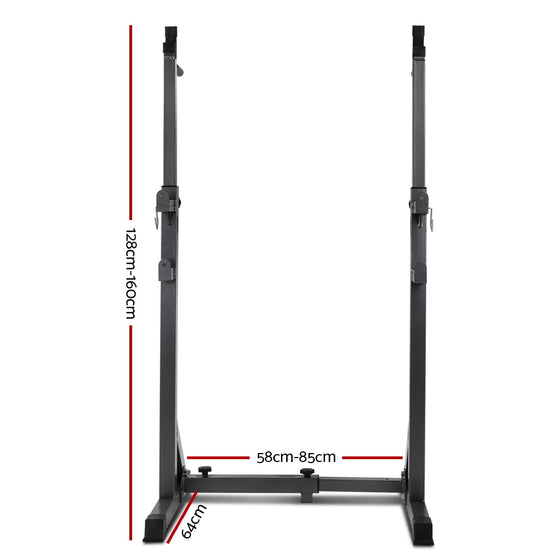 Squat Rack Pair Fitness Weight Lifting Gym Exercise Barbell Stand