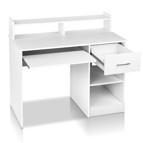 Office Computer Desk with Storage - White