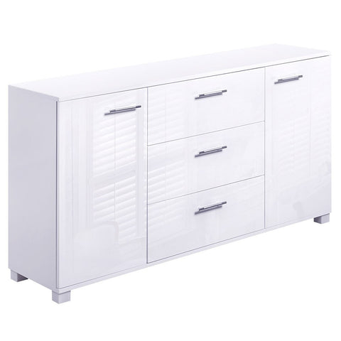 Gloss High Gloss Storage Cabinet - White