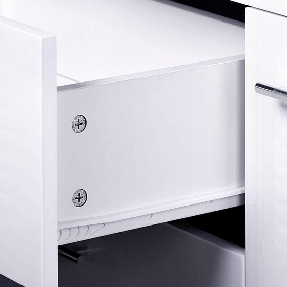 High Gloss Storage Cabinet White