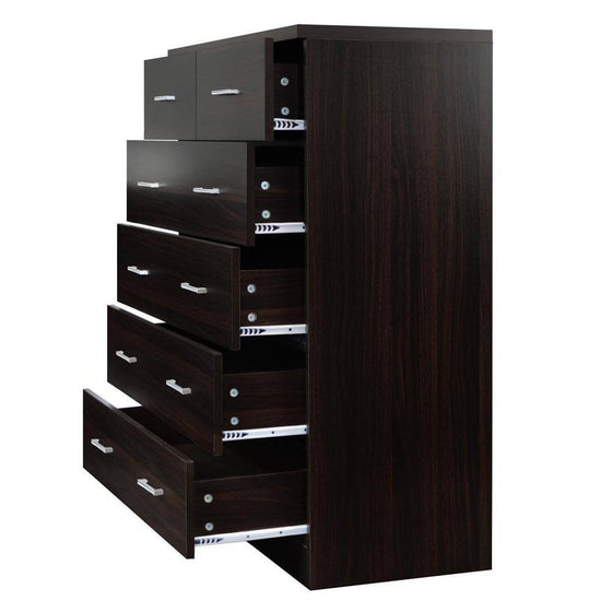 Tallboy 6 Drawers Storage Cabinet Walnut