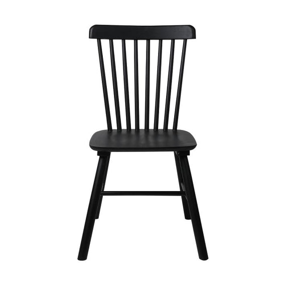 Set of 2 Dining Chairs Side Chair Replica Kitchen Wood Furniture Black