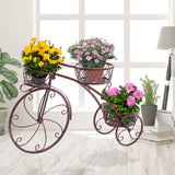 2x Levede Plant Stand Outdoor Indoor Metal Pot Garden Decor Flower Rack Shelf
