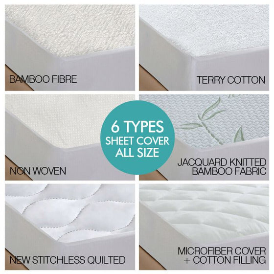 Fitted Waterproof Bed Mattress Protectors Covers Queen