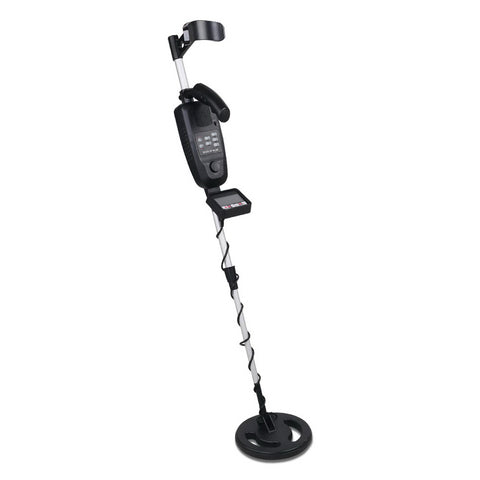 LCD Screen Metal Detector with Headphones Black