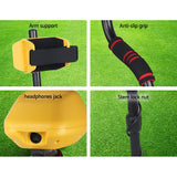LCD Screen Metal Detector with Headphones Yellow