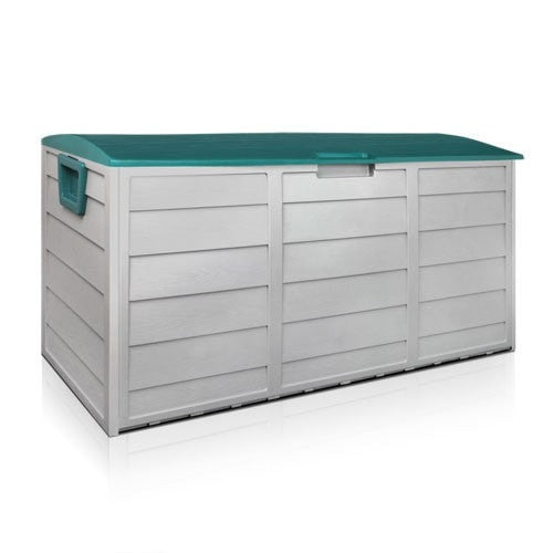 290L Plastic Outdoor Storage Box Weatherproof - Green