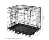 24inch Portable Foldable Pet Crate - Black