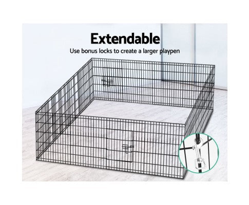 "30"" 8 Panel Pet Dog Playpen Fence"