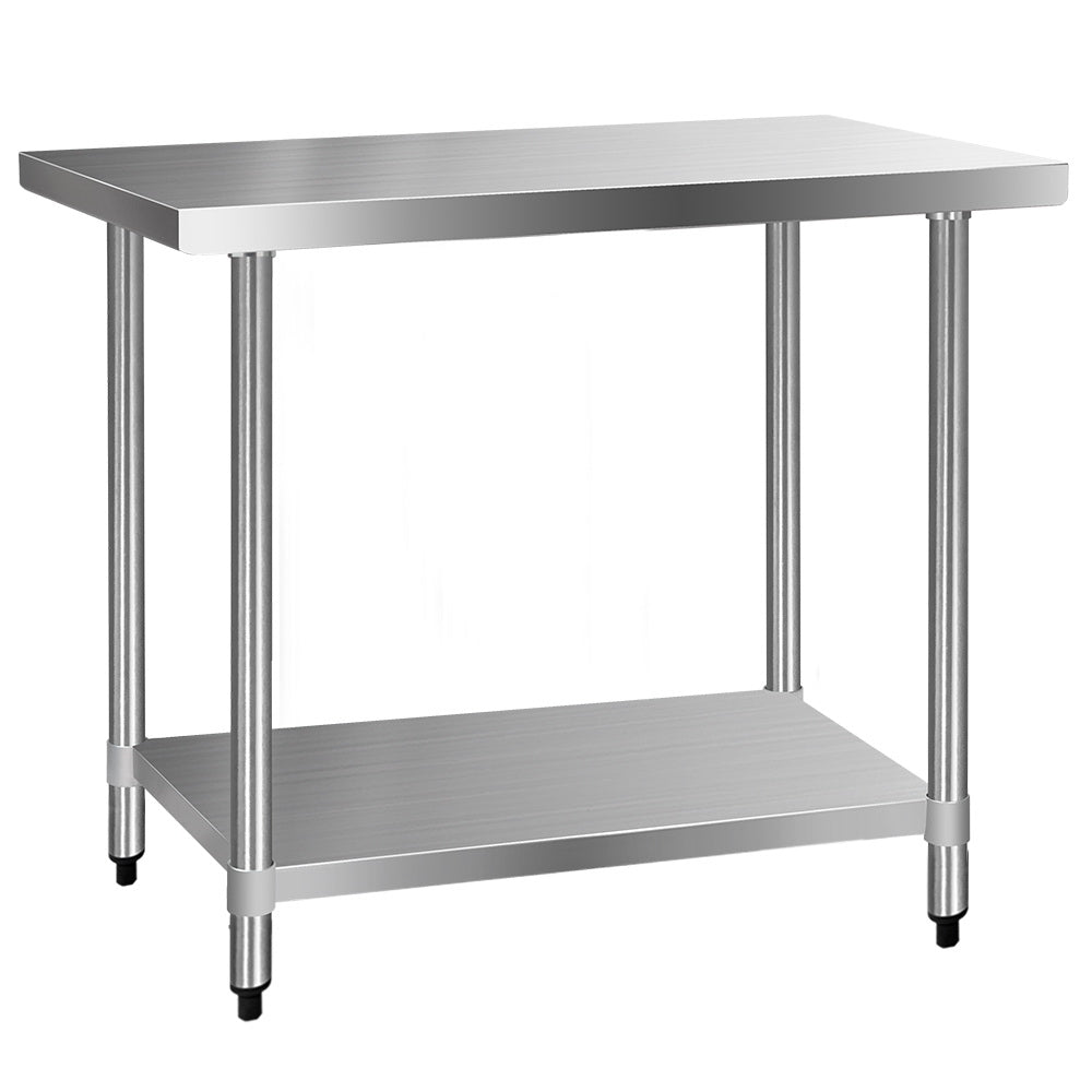610 x 1219mm Commercial Stainless Steel Kitchen Bench