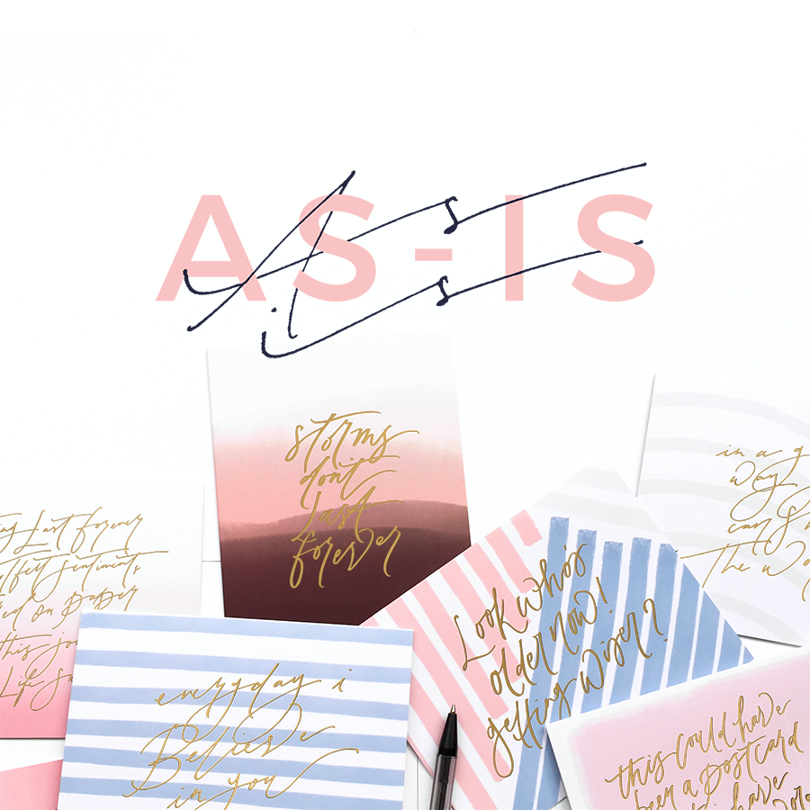 AS-IS Greeting Cards (Set of 2)