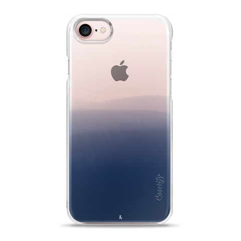 Dip Dye (Ocean) Clear Phone Case