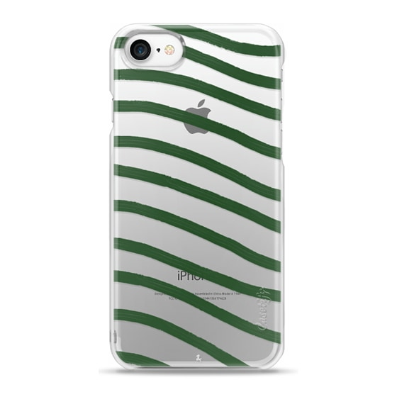 Emerald Strips Clear Phone Case