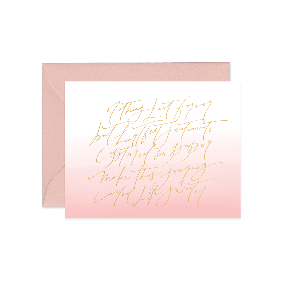 Heartfelt Sentiments Card