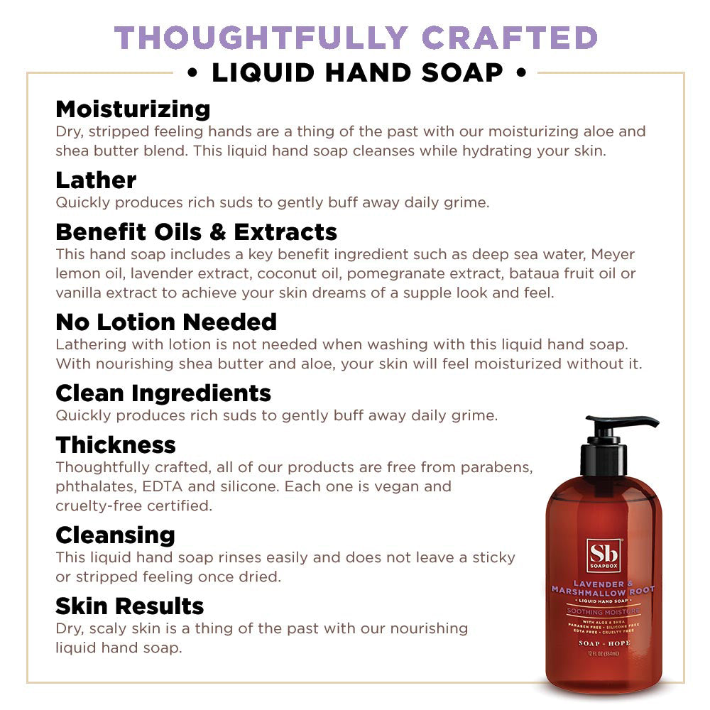 Lavender & Marshmallow Root Soothing Moisture Liquid Hand Soap