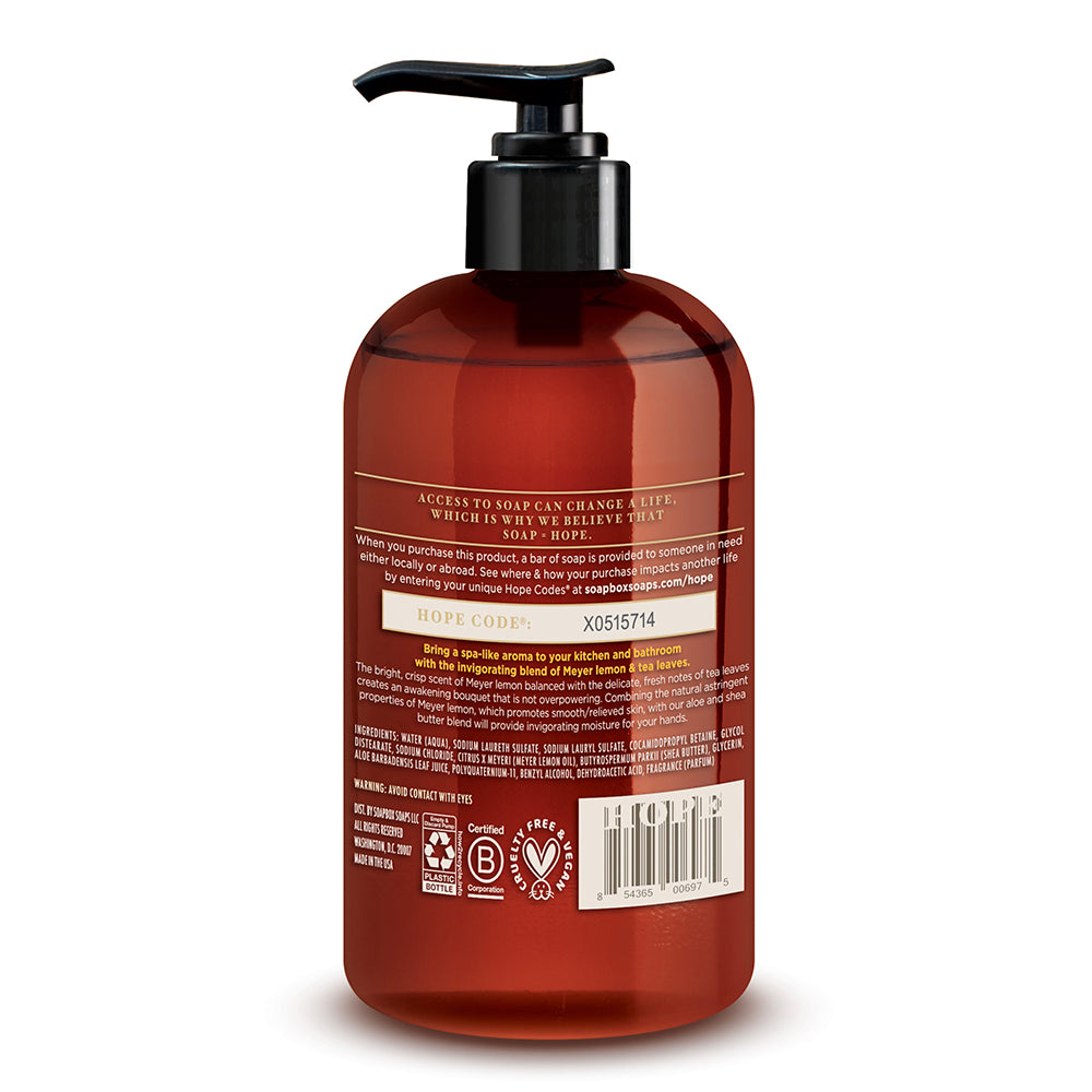 Meyer Lemon & Tea Leaves Invigorating Moisture Liquid Hand Soap